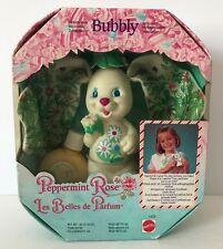 1992 Mattel Peppermint Rose Sweet Spray Bubbly White Bunny New In Box