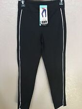 (NWT) Hue Womens Black/Gray Piped Polished Twill Skimmer Leggings Sizes S/M/L/XL
