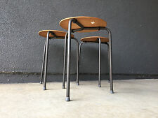 3 ARNE JACOBSEN VINTAGE STOOL SIDE TABLE MID CENTURY MODERN CHAIR DENMARK DANISH