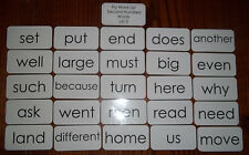 25 laminated Fry high frequency sight word flash cards. Second Hundred List 3.
