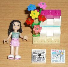 Lego Friends 1 Mädchen mit Blumen- und Zeitungsstand