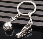 3D Sports foot & Soccer Keychain Keyring Key Chain Ring Zinc football