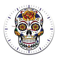 Skull Color design vinyl record wall clock home art office shop hobby bedroom
