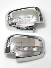 CHROME MIRROR COVER LED MITSUBISHI L200 TRITON PAJERO ORANGE BLINKER INDICATOR