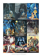 STAR WARS A NEW HOPE ILLUSTRATED ONE-SHEET REIMAGINED SET (9)