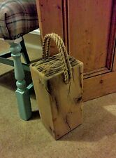 "RUSTIC Oak Door STOP made from Solid AIR essiccati Oak travi 6 ""X 5"""