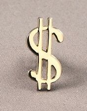 Metal Enamel Pin Badge Brooch Dollar Symbol Currency Money Gold Stock Trader