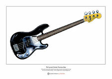 Phil Lynott's Fender P Bass Limited Edition Fine Art Print A3 size