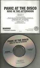 PANIC AT THE DISCO Nine in the Afternoon w/ RARE EDIT & MIX PROMO CD single 2008