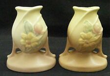 Hull Art Pottery Magnolia Matte Candlestick Pair