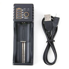 Dual Battery Charger USB For 18650 18350 14500 17670 10440 Li-Ion Ni MH LiFePO4