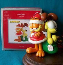 CARLTON ORNAMENT 2012 GARFIELD THE CAT Santa  with Odie