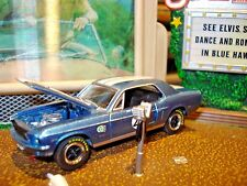 """1968 FORD MUSTANG BOSS 302  LIMITED EDITION 1/64 GL """"BILL MAIER"""" RACE CAR #22"""