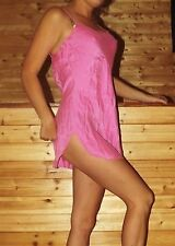 Victoria's Secret Pink 100% Silk Slip Lingerie Babydoll Chemise Nightgown Size S