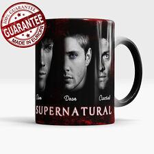 Supernatural magic mug, Sam, Dean, Castiel - color changing coffee, tea cup
