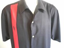 Beefeater Gin Mens Black Red Casual Shirt Bowling Retro Rockabilly XL