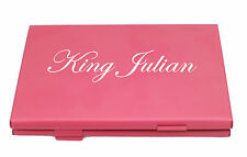 Red Business Name Card Holder ID Credit Card Case Fine Box Holder