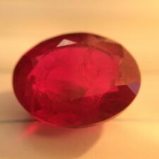 11.50cts Certified Natural Ruby Oval-cut Intense-Vivid-Red VVS1 Transparent
