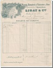 Invoice - LIGAT & Co Haberdashery Hosiery & Shoes wholesale in Moulins 1900