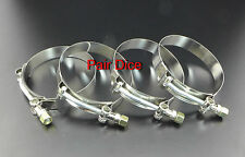 "FOUR 2"" T Bolt Stainless Clamp Turbo Charge Pipe Silicone Couplers Intercooler"