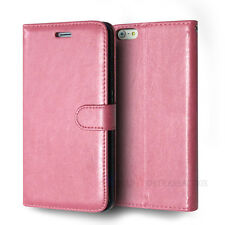 Credit Card Slot Holder Stand PU Flip Leather Wallet Soft Rubber Skin Case Cover