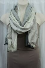 Style & Co Scarf Sz OS One Size Black Silver Multi Color Rayon Blend Casual