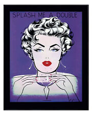POP ART PRINT - Splash me a Double - by Niagara Detroit 11x14 Poster