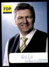 Veit Wolpert Autogrammkarte Original Signiert ## 38734