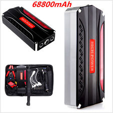 12V Portable 68800mAh Car Jump Starter Booster Battery Power Bank Charger 4USB