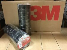 "3M 3/4"" X 60' BLACK VINYL ELECTRICAL TAPE 40 ROLLS FREE SHIPPING NEW STOCK SAVE"
