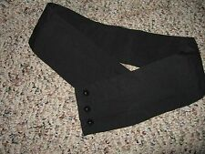 Solid black cummerbund 27 inches Long 3 Inches Wide Three Pleats Three Buttons