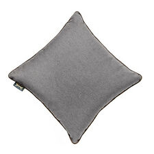 """Pewter 24"""" LARGE Wool Feel Soft Fabric Piped Cushions Ready Filled with Pads"""