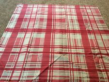 Pink white stone tartan crafts check remnant fabric material piece 95x95cm
