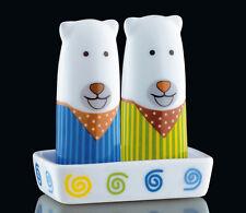 Cilio Bears with Stripes Porcelain Salt & Pepper Shaker Set
