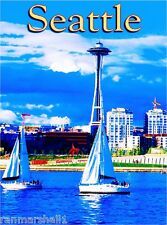 Seattle Washington Space Needle United StatesTravel Advertisement Art Poster