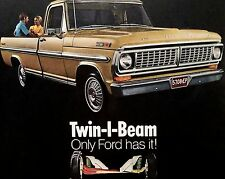 1970 FORD F-100 TRUCK-AD/PICTURE/PRINT 69 71 72 XLT F250 303 390 V8 EXPLORER