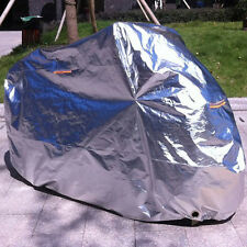 XXXXL Motorcycle Cover Vented Motorcycle Silver UV Protector Sun Rain Dust Cover