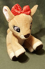 """CLARICE Rudolph The Red Nose Reindeer Plush Rattle 6"""" 2015 Kids Preferred Lovey"""