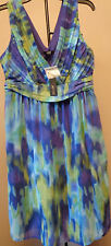 APT.9 DRESS COLORWASH BLUE PLEATED BODICE DRESS SIZE 10 RETAIL PRICE $64.00 NS