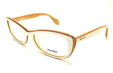 Authentic MIU MIU White/Beige Rx Eyeglasses MU 01LV - KAT1O1 *NEW*  53mm