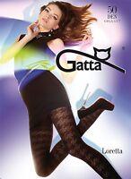 Gemusterte Strumpfhose von Gatta  Loretta Model 87  50 DEN