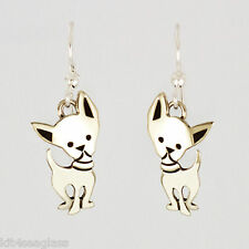 Far Fetched CHI-WA-WA DOG EARRINGS Alpaca Silver Chihuahua Mima Oly - Gift boxed