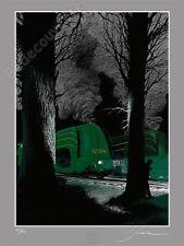 Affiche Sérigraphie Schuiten Atlantic 12.004 locomotive 200 ex signée 60x80 cm