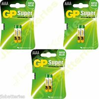 6x AAAA GP SUPER Batteries MN2500 1.5V E96 LR8D425 Alkaline battery 3 X 2 packs