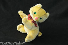 Kennel Kittee Yellow Gold Kitty Cat Blue Ribbon Stuffed Plush Kitten Mini Toy 6""