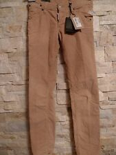 DSQUARED2 100%AUTHENTIC SEXY BEIGE CORDUROY LOW RISE JEANS ITALY SIZE 42 / US 28