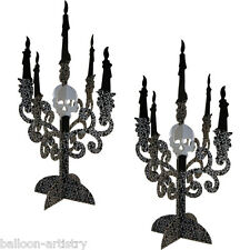2 Haunted Halloween Party Gothic Candelabra Table Centerpieces Decorations