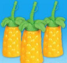 "12 PALM TREE CUPS 7"" TALL 16 oz Luau Party Free Shipping"
