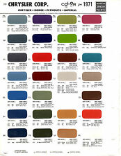 1971 DODGE CHARGER PLYMOUTH BARRACUDA CHRYSLER FORD PAINT CHIPS MARTIN SENOUR 7