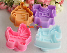 4* Differ Baby Toys Set Cake Pastry Biscuit Cookie Cutter Moulds Bake Decor Tool